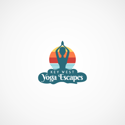 Sunny logo with the title 'Key West Yoga Escapes logo'