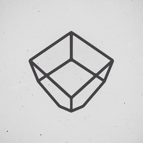 Cube logo with the title 'The Glass Gardener  Start-up Logo-design'