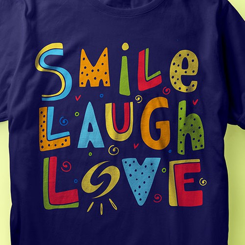 Love t-shirt with the title 'Smile Laugh Love'