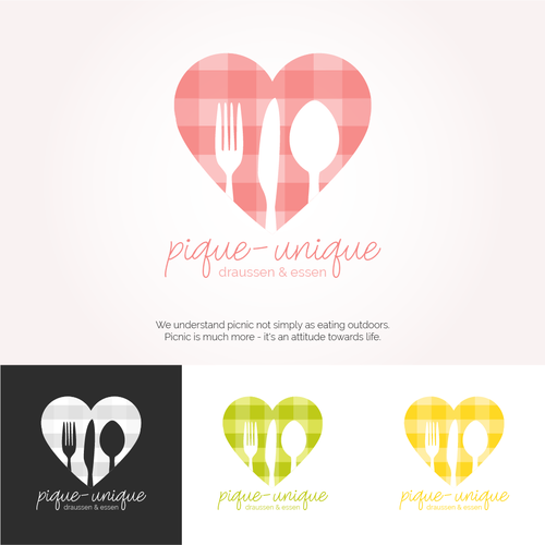 Picnic design with the title 'Modern & joyful logo for picnic blog'
