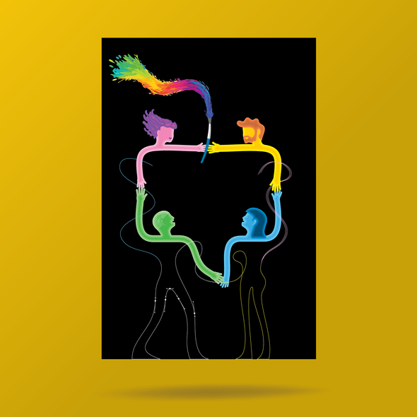 Communication artwork with the title 'Illustration for Design Community Finalists'