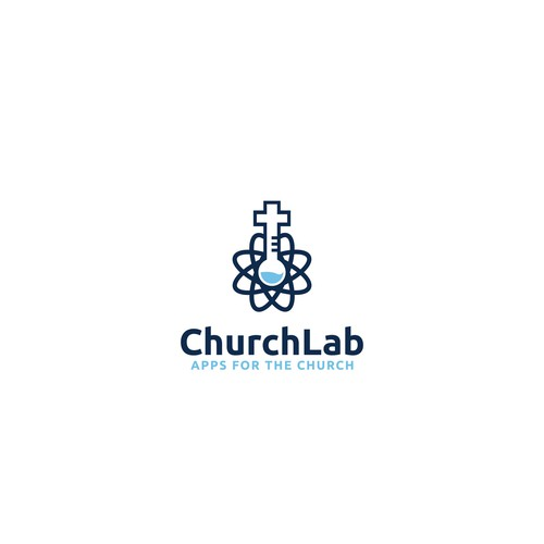 Church logo with the title 'Logo for lab company'