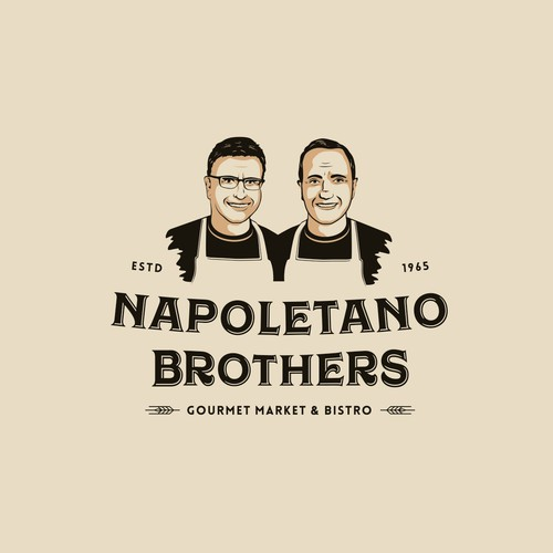 Bistro logo with the title 'Logo for Napoletano Brother's Gourmet Market'