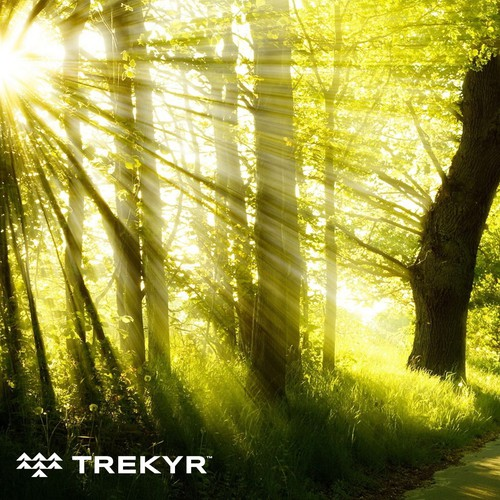 Camping design with the title 'Trekyr Outdoor brand design'