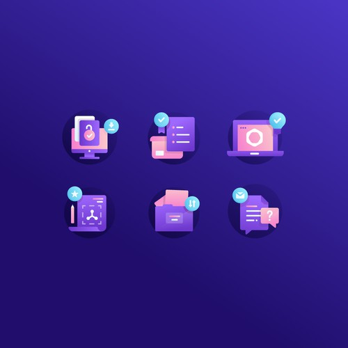Tech artwork with the title 'icons'