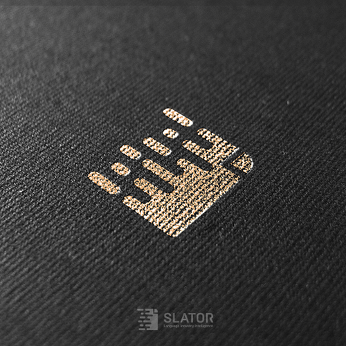 Note design with the title 'Logo for B2B media outlet - Slator'