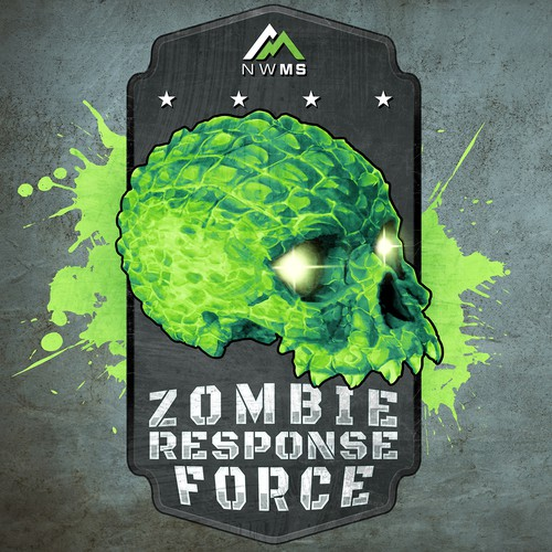 Zombie illustration with the title 'Zombie Response Force'