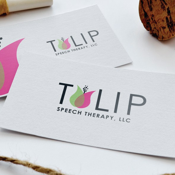 Speech therapy logo with the title 'Tulip Speech Therapy, LLC'