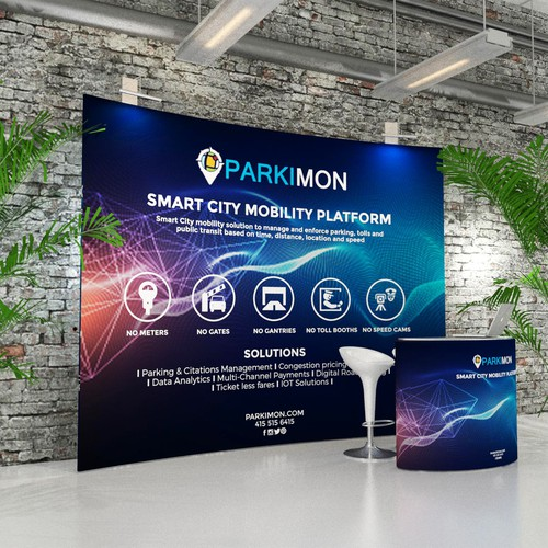 Trade show design with the title 'Parkimon Trade Booth Design'