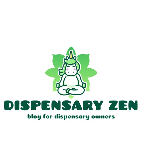 Dispensary design with the title 'Cute logo for the Dispensary Zen blog'