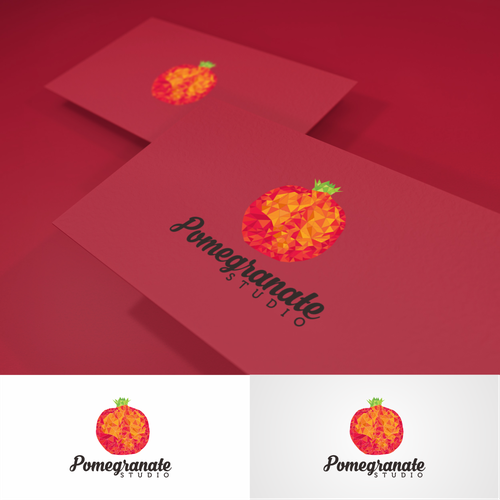 Pomegranate design with the title 'Pomegranate studio '