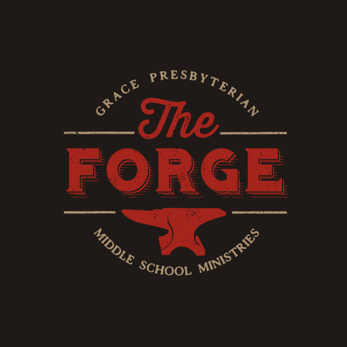 Western logo with the title 'Forge Anvil Logo'
