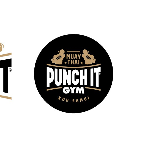 Muay thai logo with the title 'Logo for Muay Thai training gym'