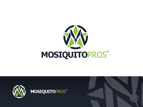 Mosquito design with the title 'create a logo that brands Misquito Pros'