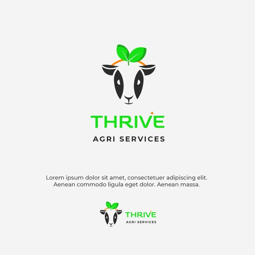 Livestock design with the title 'Minimalist logo for Agricultural service provider'