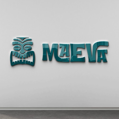 Beach bar logo with the title 'Maeva'