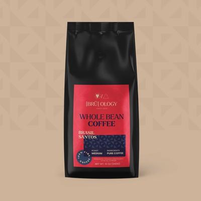 充满活力的咖啡品牌标签