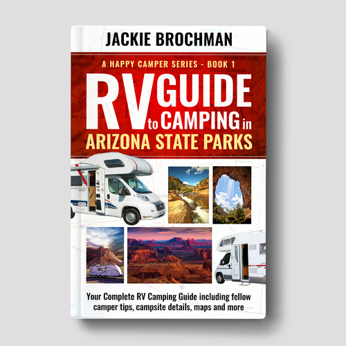 Arizona design with the title 'Camping Book Cover'