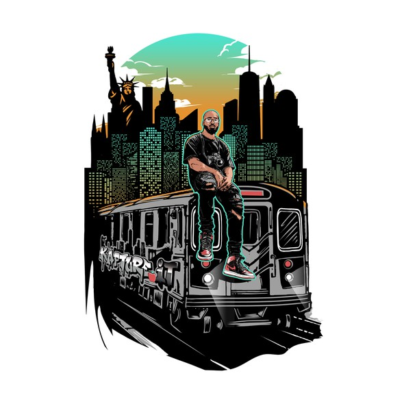 City t-shirt with the title 'Kapture.It t-shirt design'