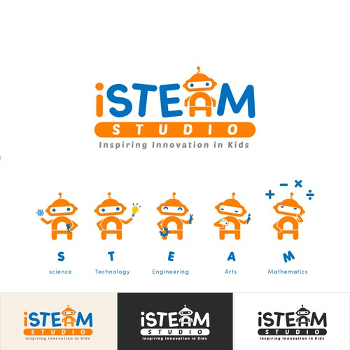 Engineering logo with the title 'iSTEAM studio logo design'