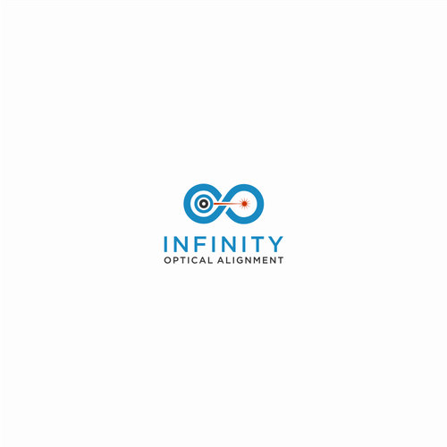 Laser logo with the title 'Industrial alignment company named Infinity needs a new logo!'