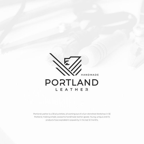 Northwest logo with the title 'Logo design for Portland Leather'