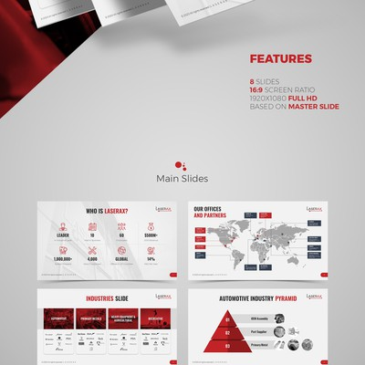 Laserax Powerpoint Template Design