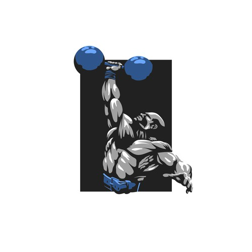 Muscle logo with the title 'Strongman Logo'