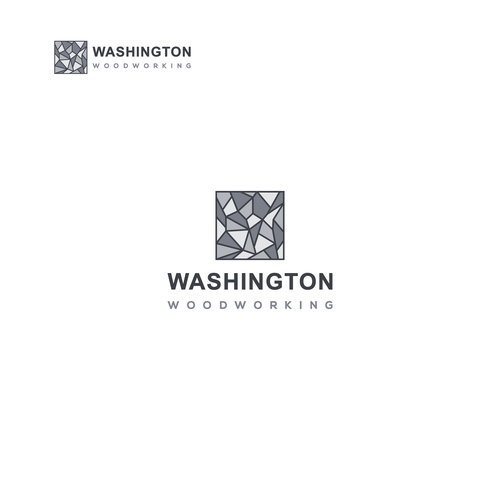 Fabrication logo with the title 'Custom interior logo for Washington Woodworking'