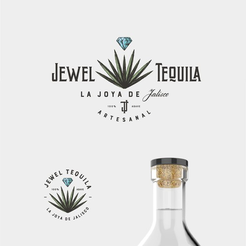 Spirit logo with the title 'logo for JEWEL TEQUILA'