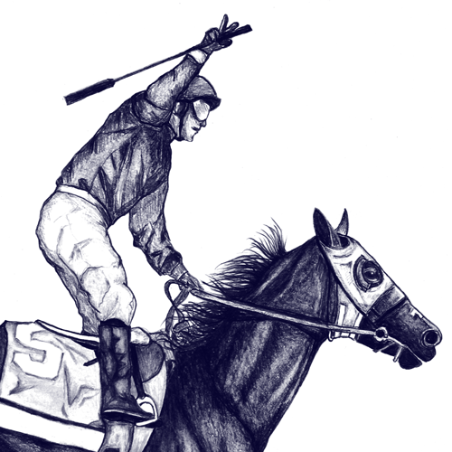 Sketch t-shirt with the title 'Create a cool t-shirt for Kentucky Derby winner California Chrome'