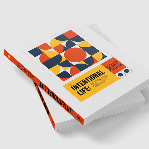 Geometric book cover with the title 'An abstract take on intention'