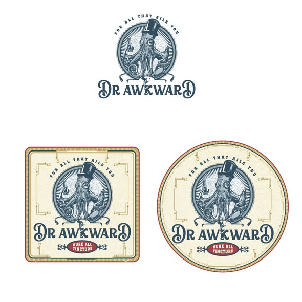 Elixir design with the title 'Dr Awkward'