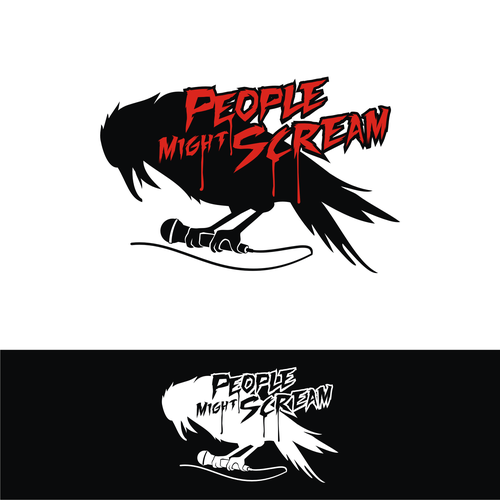 Crow logo with the title 'People Might Scream band'