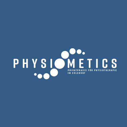 Navy blue logo with the title 'Logo design for physiotherapy centre'