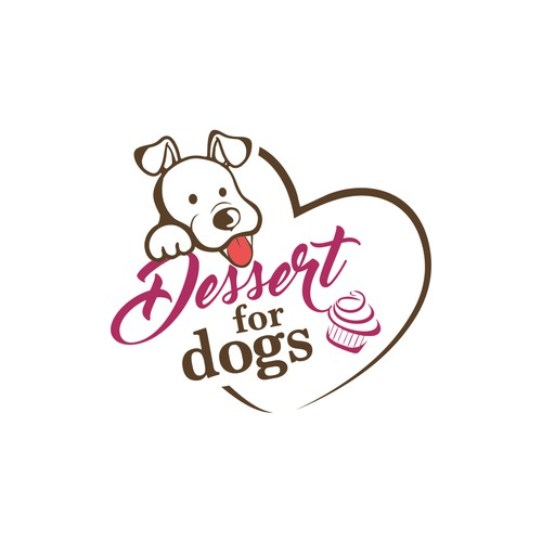 Fundraising logo with the title 'Dessert for Dogs - Fundraiser Event Logo'