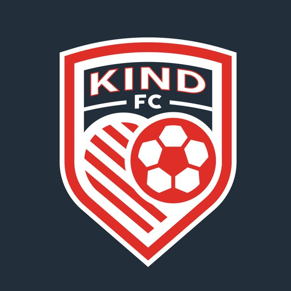 Football logo with the title 'Kind FC'