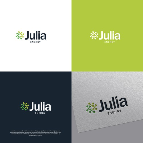 Open source logo with the title 'Julia Energy Logo'
