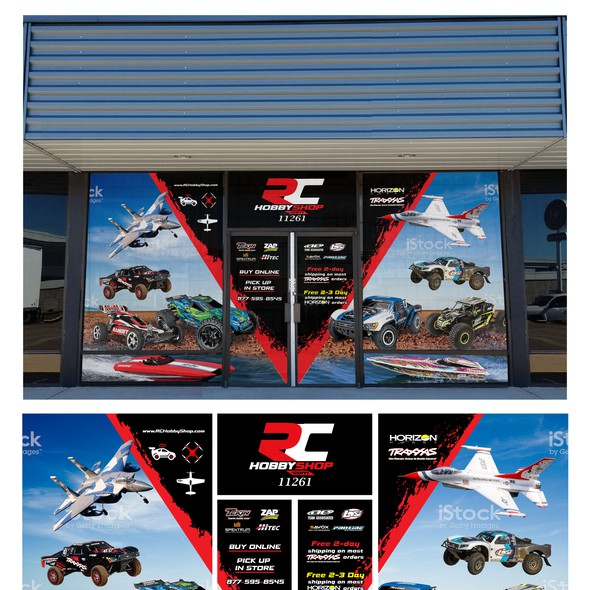 Hobby design with the title 'RC Hobby Shop '