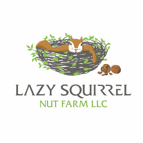 Squirrel logo with the title 'Lazy Squirrel Nut Farm LLC'
