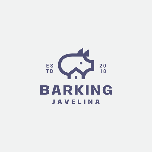 Park logo with the title 'barking javelina logo'