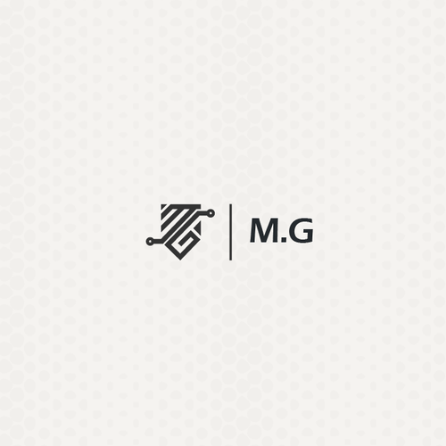 G brand with the title 'logo for Mr. M.G'