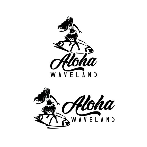 Hawaii logo with the title 'Waterpark logo'