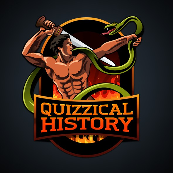 Muscle logo with the title 'Historic Logo for a Website'