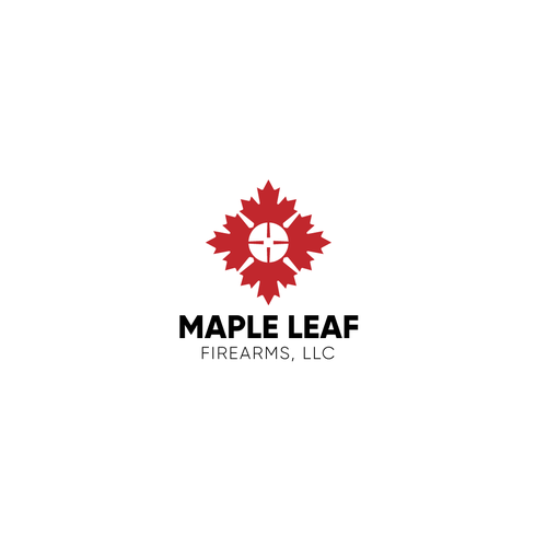 Maple leaf logo with the title 'Logo concept for a firearms seller'
