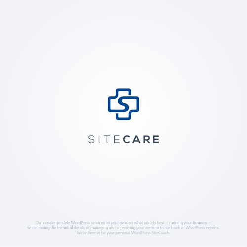 Cross design with the title 'SiteCare'