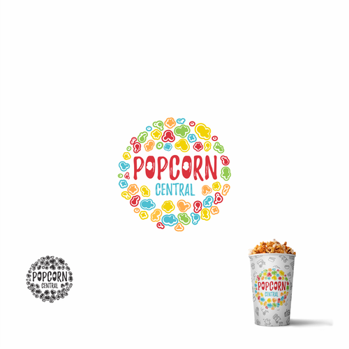 Popcorn logo with the title 'Popcorn Colorfull'