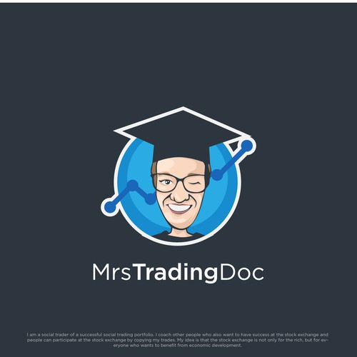 Flexible logo with the title 'Humorous but trustworthy logo for Mrs TradingDoc'