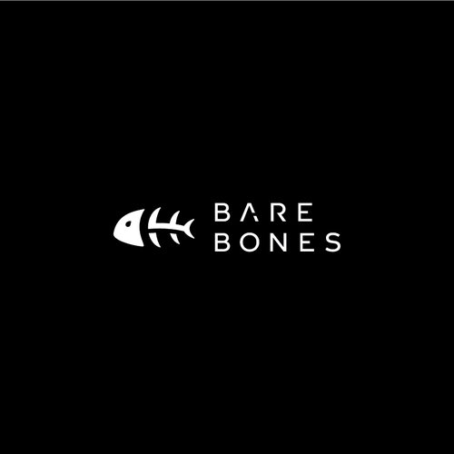 Clean and simple logo with the title 'Bare Bones Logo'