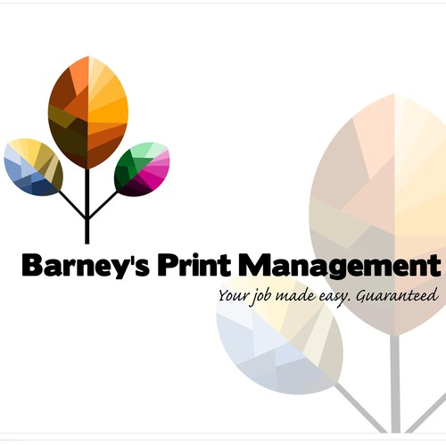 Colorful design with the title 'Print management logo'